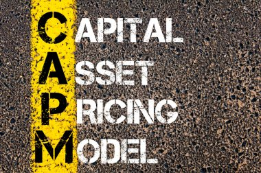 Business Acronym CAPM as Capital asset pricing model