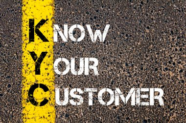 Business Acronym KYC - Know Your Customer