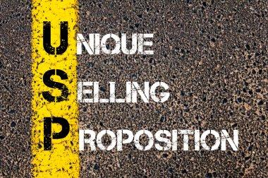 Business Acronym USP as Unique Selling Proposition