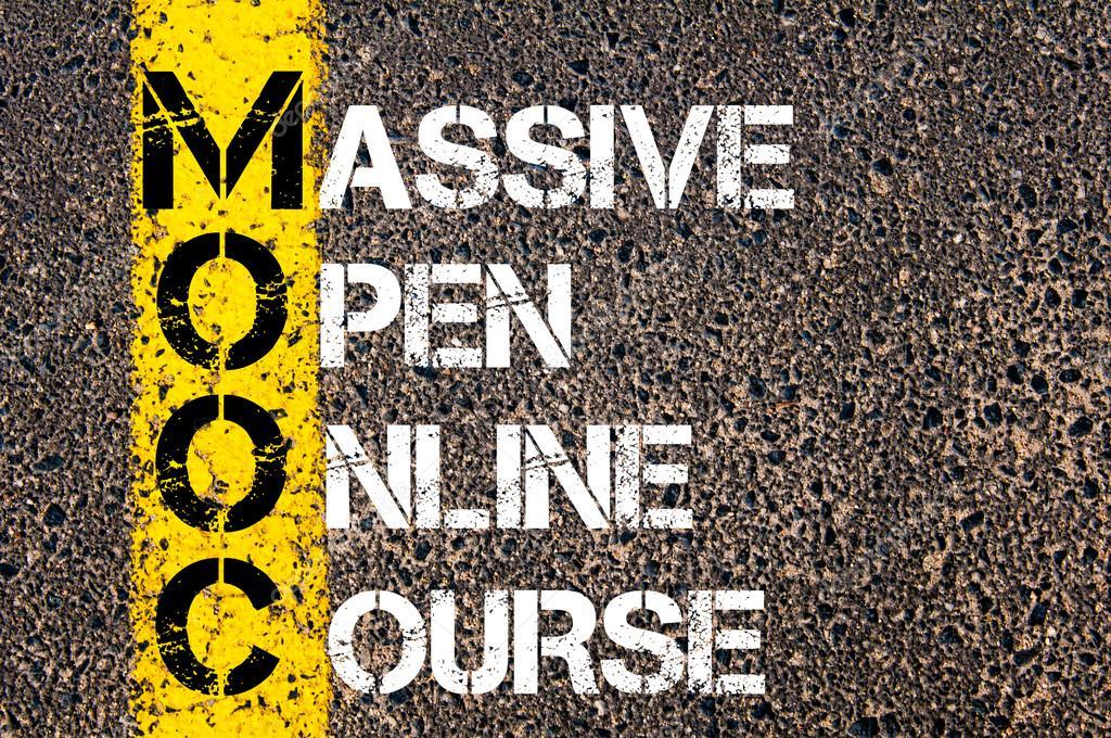 Business Acronym MOOC as Massive Open Online Course