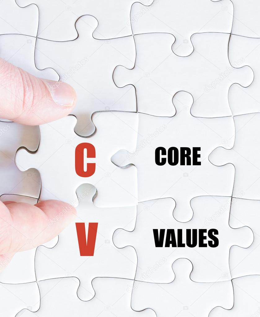 last puzzle piece with business acronym cv stock photo stanciuc1