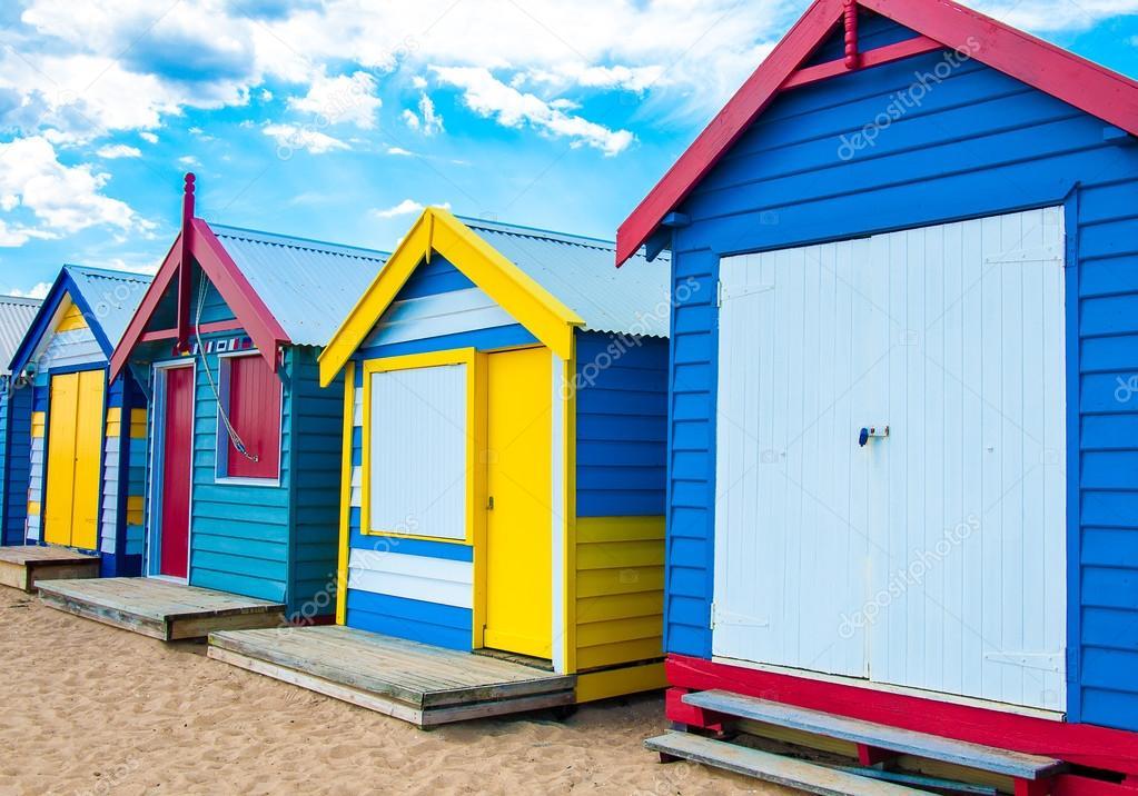 Case Tipiche Australiane : Case di balneazione alla spiaggia di brighton australia u2014 foto