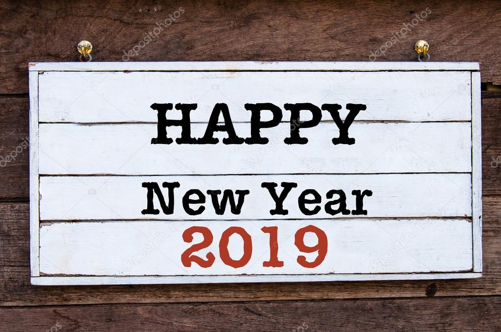 Inspirational message - Happy New Year 2019 — Stock Photo ...