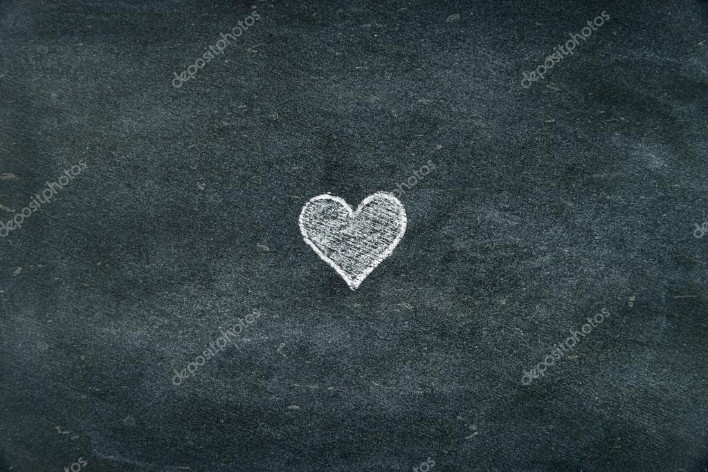 Line Drawing Heart Shape : Hand drawing heart shape symbol on blackboard u stock photo