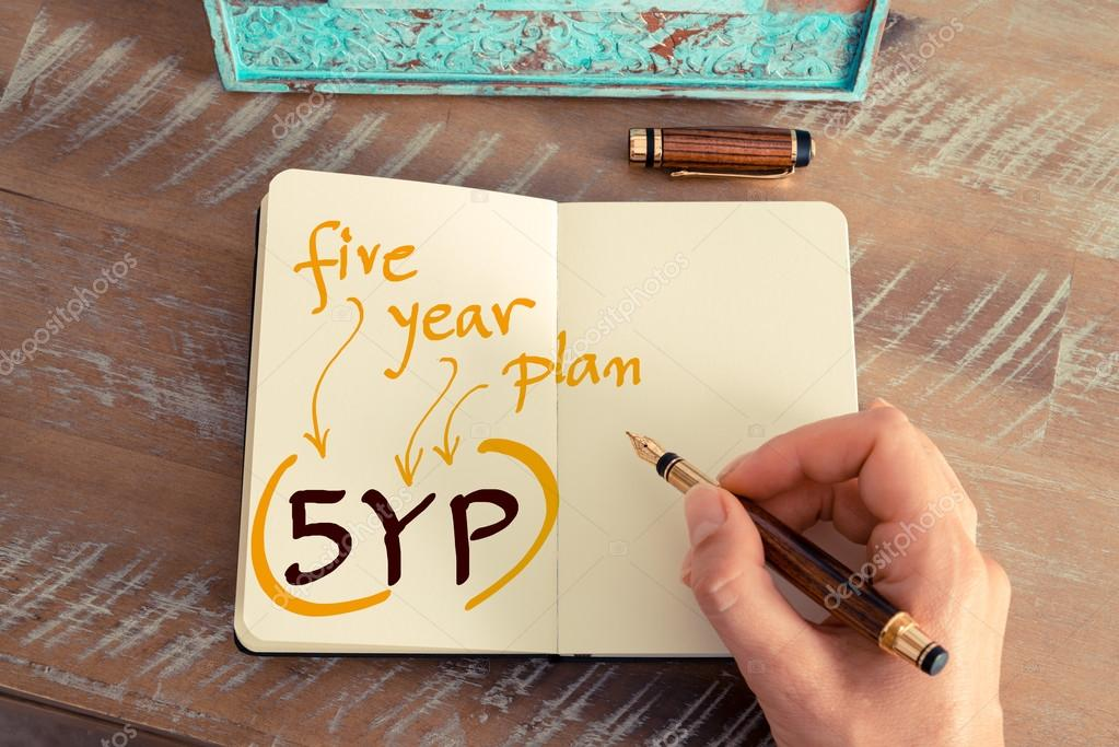 writing a five year plan
