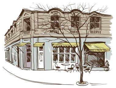 Cafe hand drawn