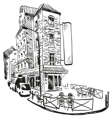 Cafe hand drawn