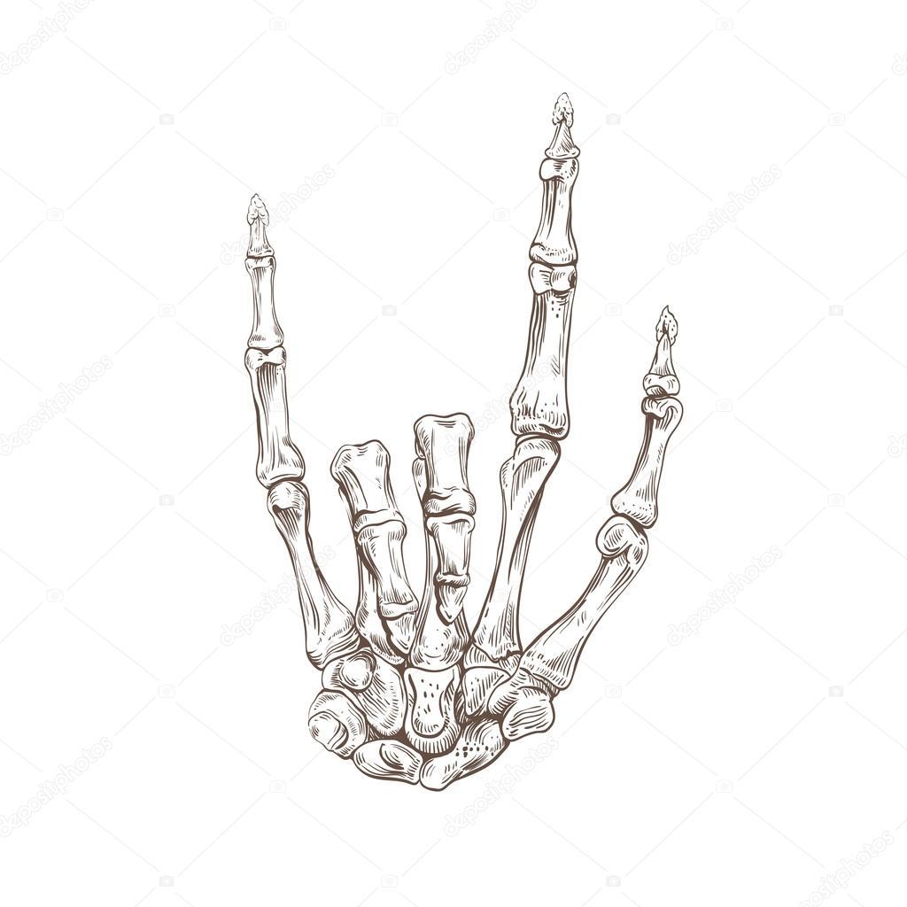 mano esqueleto heavy metal — Vector de stock © Roman84 #54088089