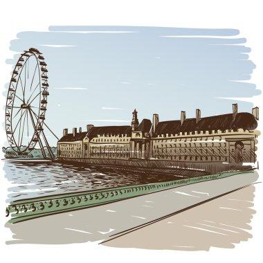 London hand drawn,