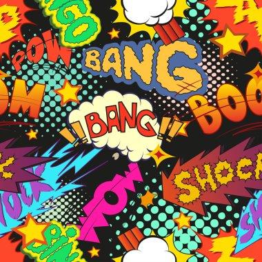 Comic book explosion pattern,