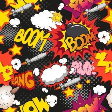 Comic book explosion pattern,