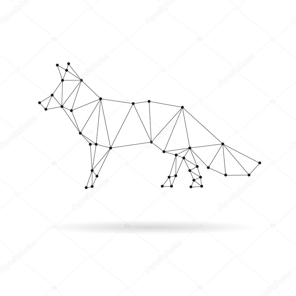 Geometric iocn note design silhouette. Black line vector illustration