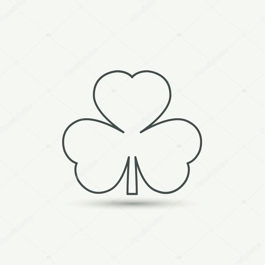 Clover Leaf Icon Stock Vector C Olgashi 65968917