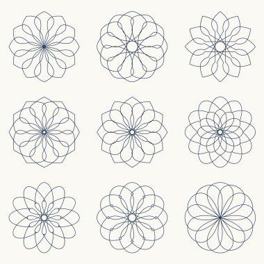 Simple geometric ornaments.