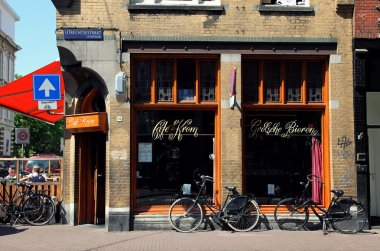 Typical Amsterdam street view