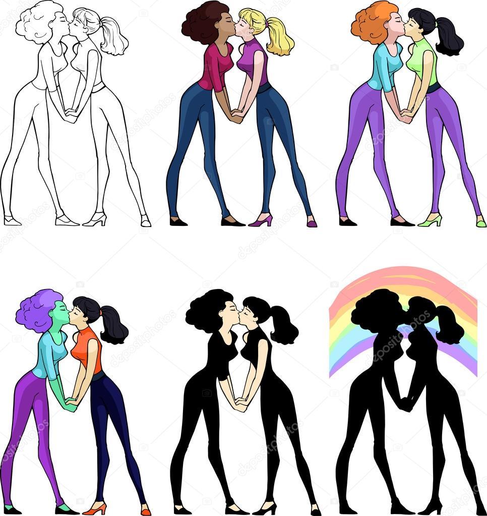 Zwarte lesbische dames