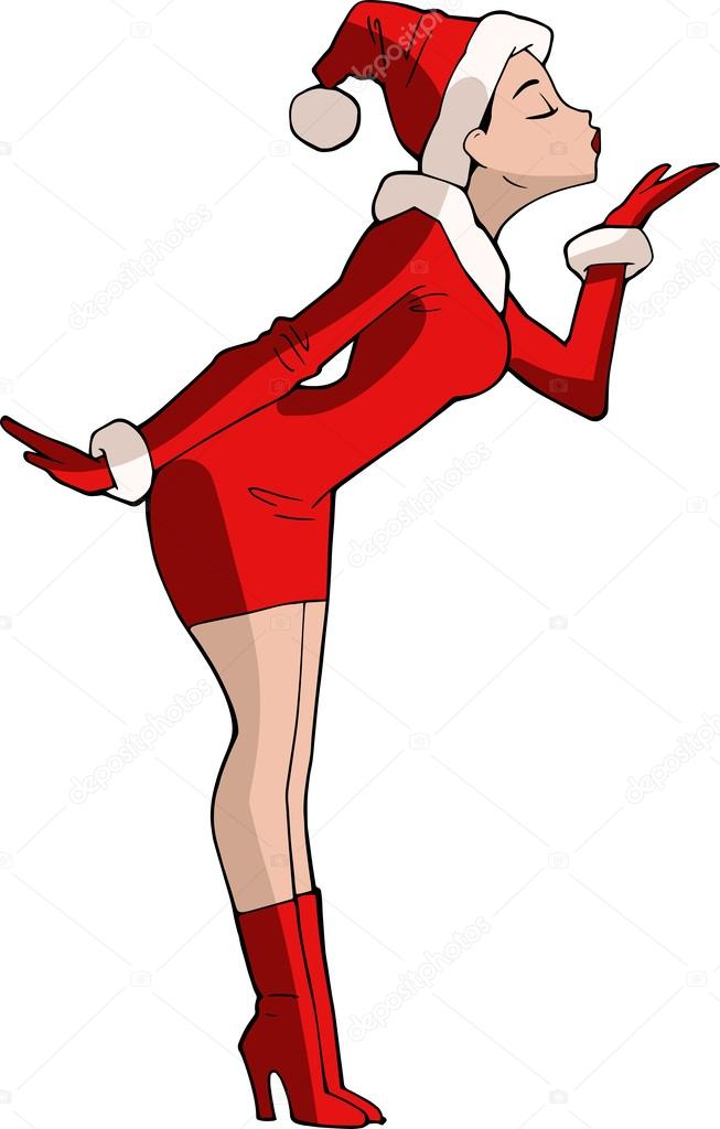 cartoon girls christmas Sexy