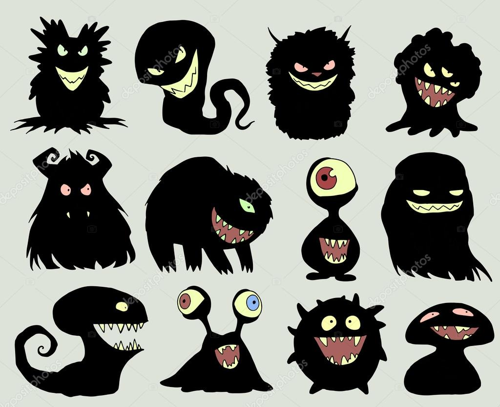 Different Halloween monsters — Stock Vector © A_Petruk ...