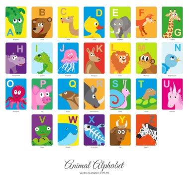 "Картина, постер, плакат, фотообои ""Плоские животных алфавит"", артикул 101205872"