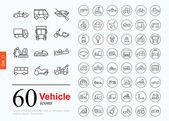 60 vechile ikony