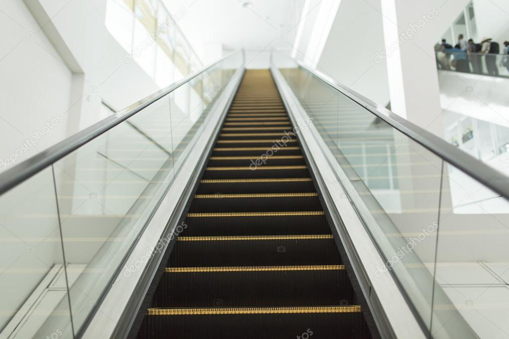 Staircase Elevator In Thailand Airport U2014 Stock Photo