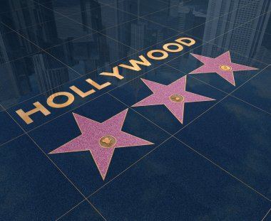 Hollywood stars on walk of fame