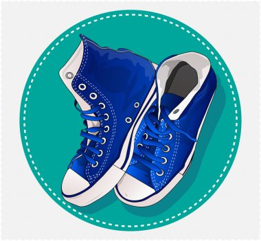 I love blue sneakers