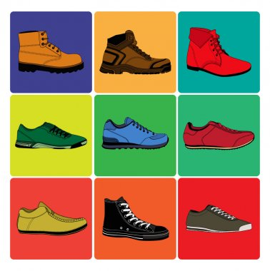 all kinds of men's shoes