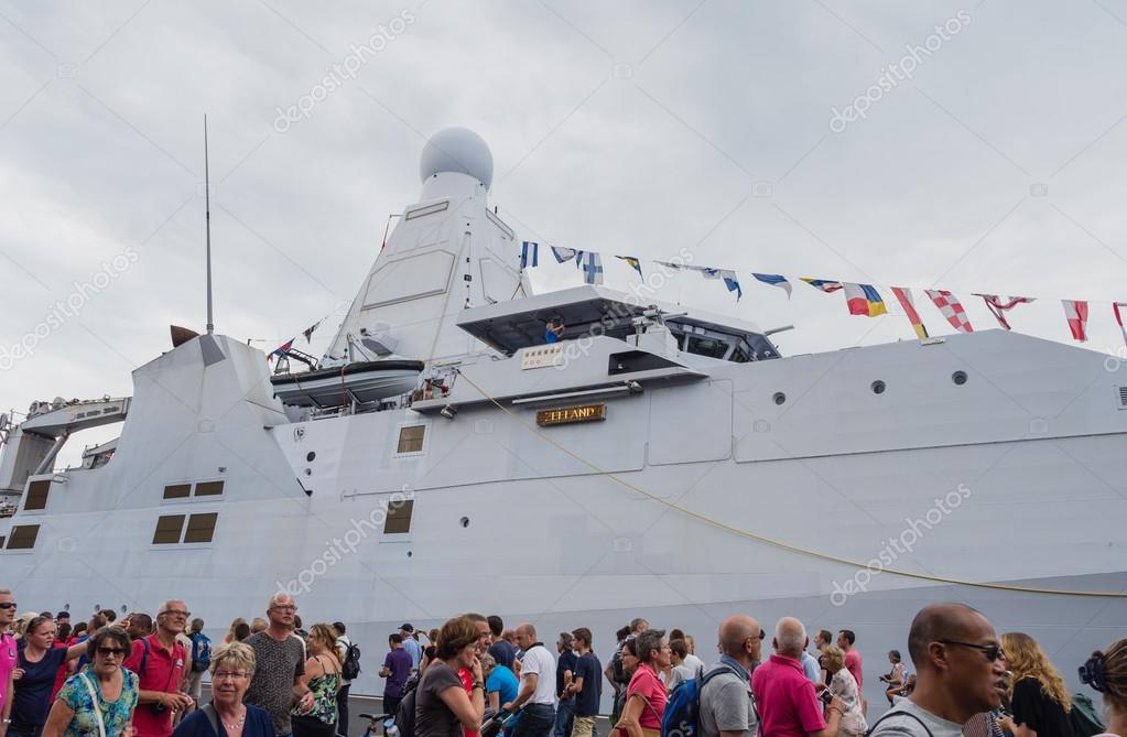 Dutch military navy vessel at Sail Amsterdam