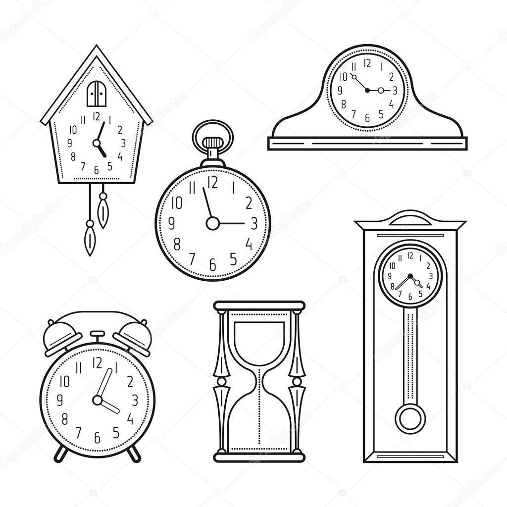 Imágenes Relojes Para Colorear Diferentes Tipos De Relojes
