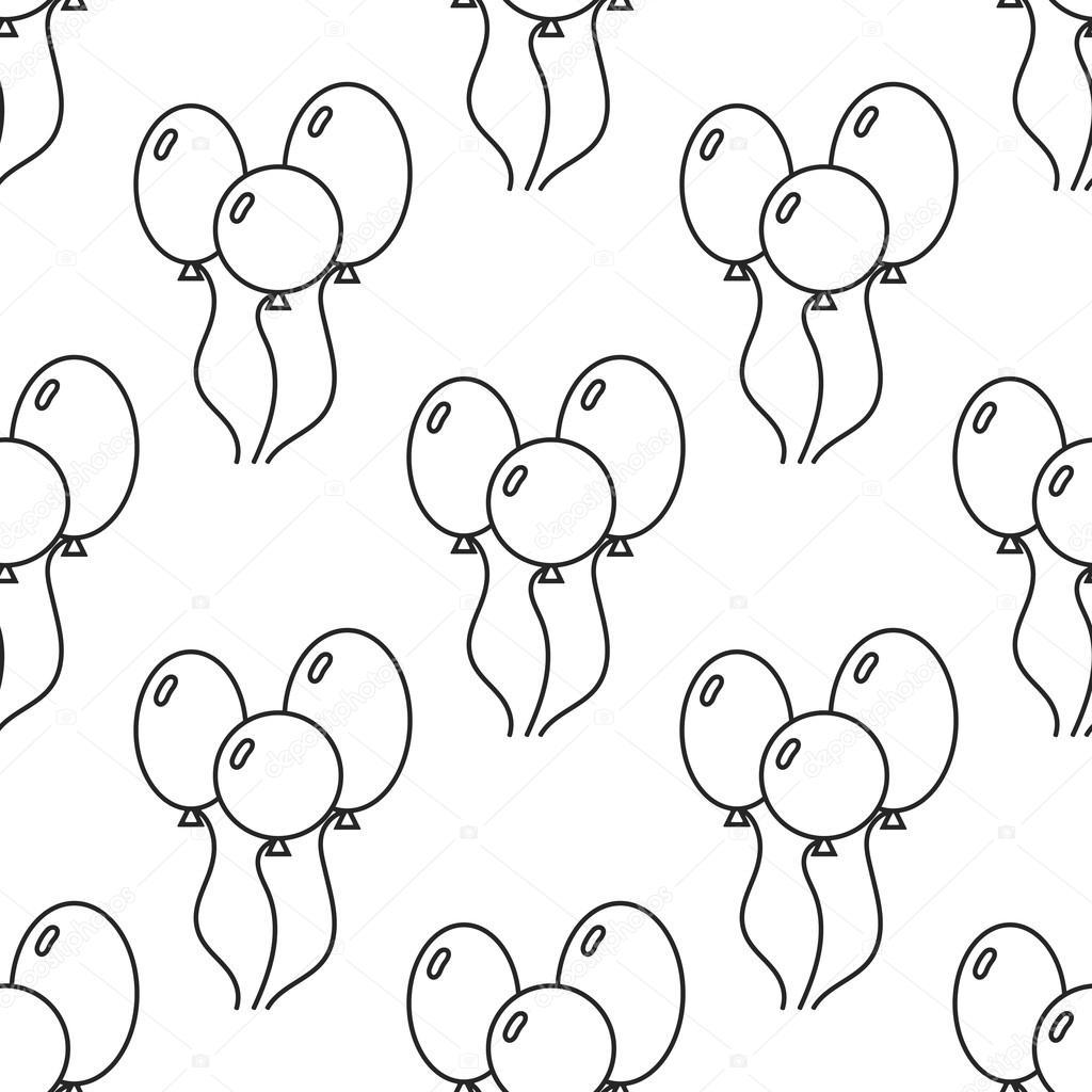 Blanco y negro de patrones sin fisuras con globos para colorear ...