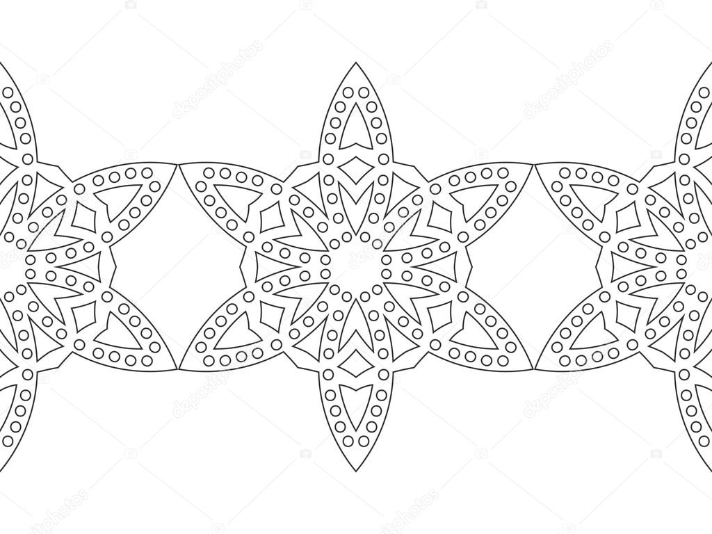 Copo de nieve blanco y negro para colorear libro. Sin fisuras patrón ...