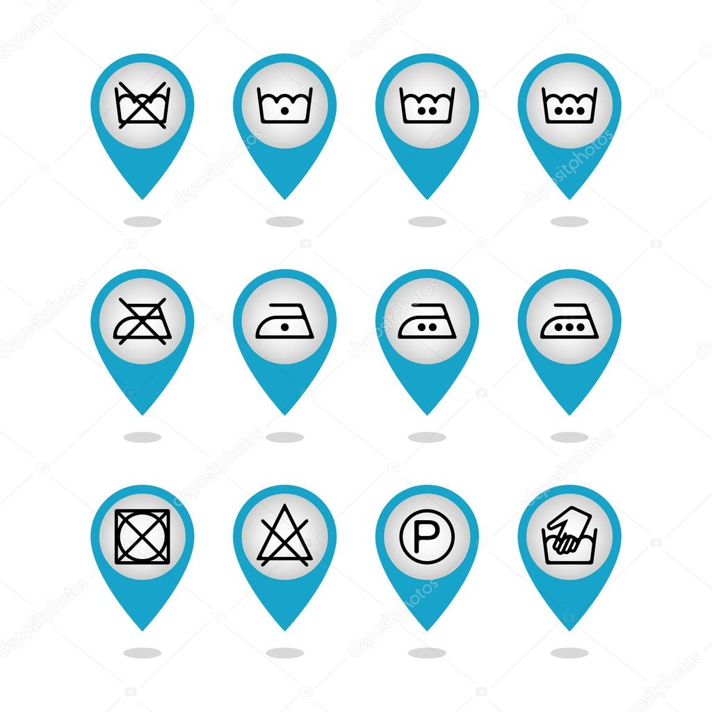 Set of instruction laundry icons care icons washing symbols set of instruction laundry icons care icons washing symbols stock vector biocorpaavc Image collections
