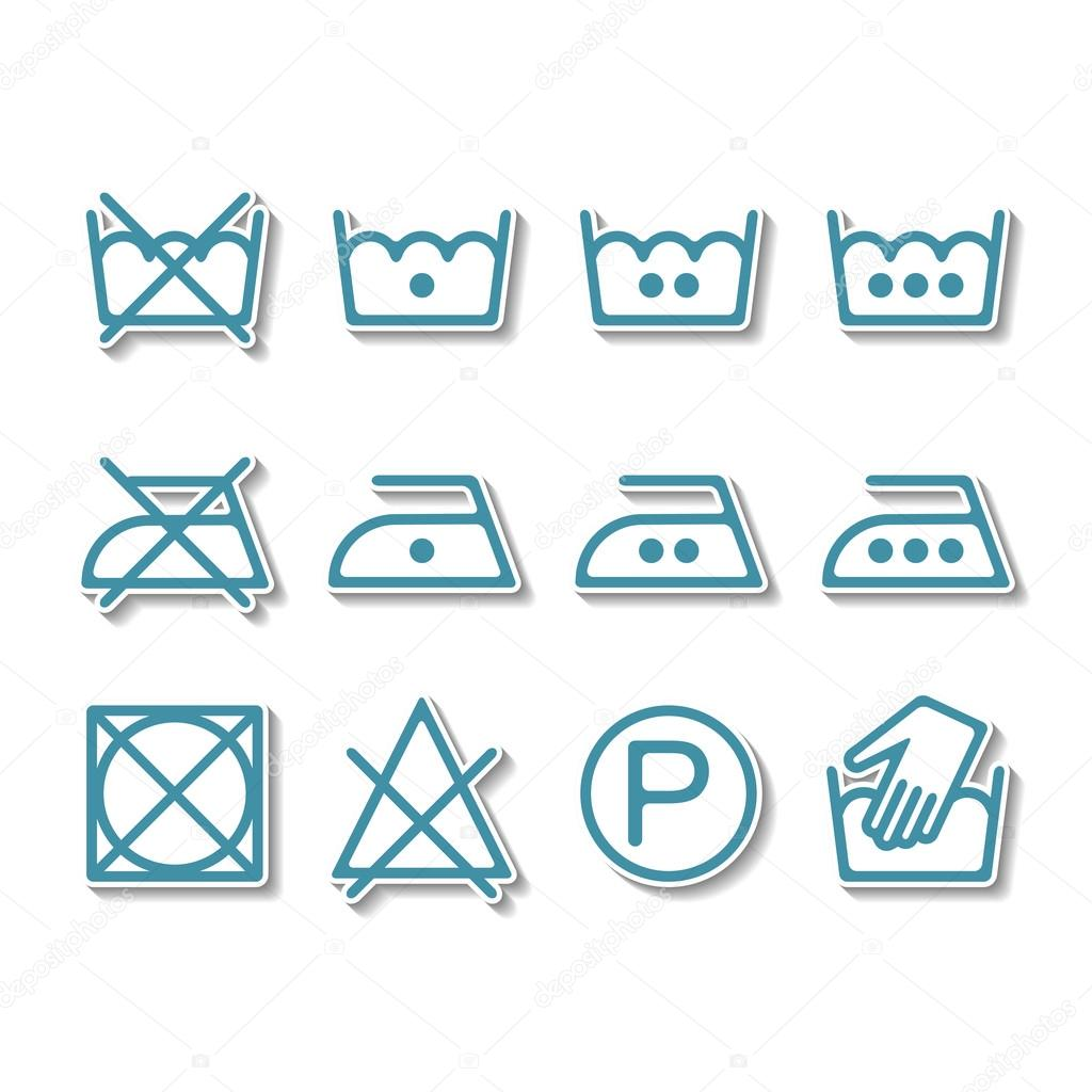 Instruction laundry dry cleaning care icons washing symbols instruction laundry dry cleaning care icons washing symbols vector by lilipom buycottarizona
