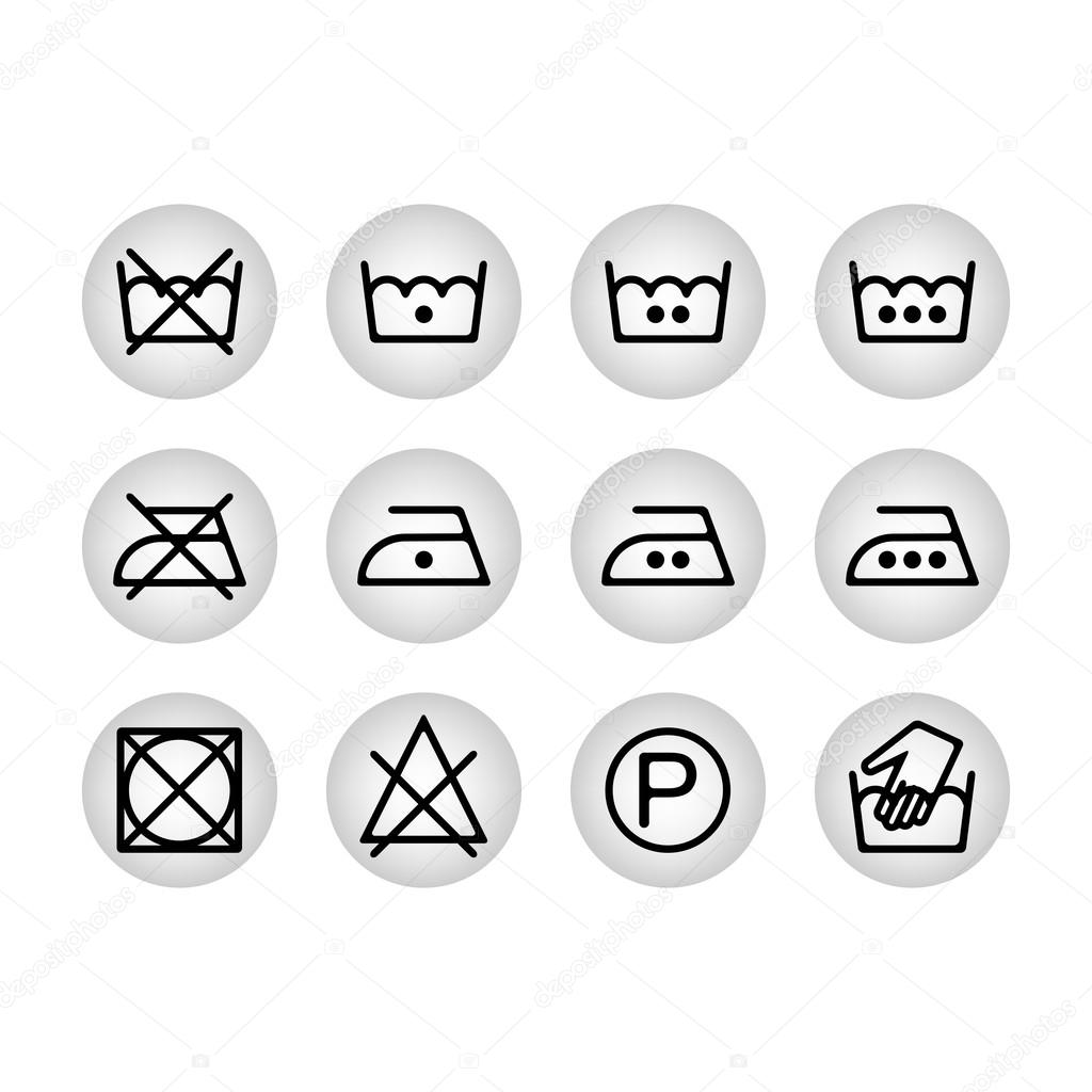 Instruction laundry dry cleaning care icons washing symbols for instruction laundry dry cleaning care icons washing symbols for design stock vector biocorpaavc Image collections