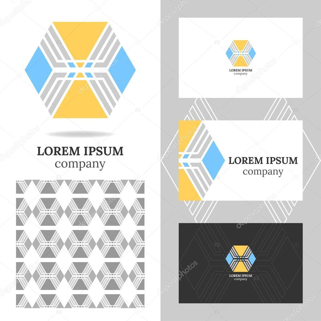 Element Polygon De Vecteur Pour Ledition Carte Visite Avec Logo Entreprises Medias Technologie Motif Geometrique Sans Soudure Illustration