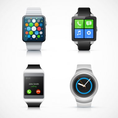 Set of realistic smart watch