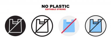 No plastic icon set with different styles. Icons designed in filled, outline, flat, glyph and line colored. Editable stroke and pixel perfect. Can be used for web, mobile, ui and more. icon
