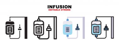 Infusion icon set with different styles. Icons designed in filled, outline, flat, glyph and line colored. Editable stroke and pixel perfect. Can be used for web, mobile, ui and more. icon