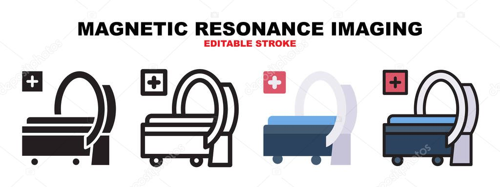Magnetic Resonance Imaging icon set with different styles icon