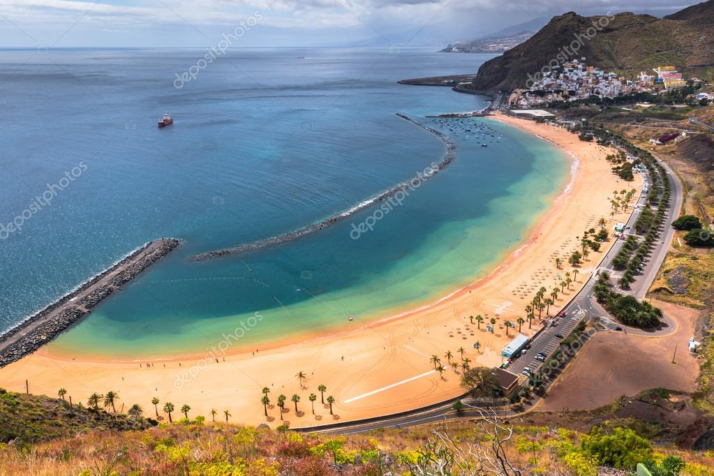 View of Las Teresitas Beach, Tenerife, Spain