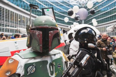 People of 501st Legion take part in the Star Wars parade in Mila