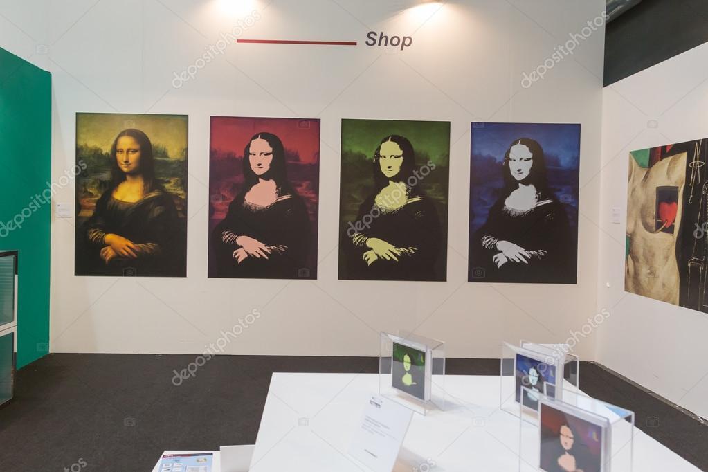 Modern art corner at Viscom 2015 in Milan, Italy