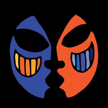 Orange-blue mask