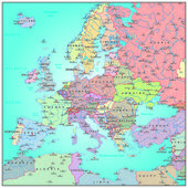 Administrative map of Europe