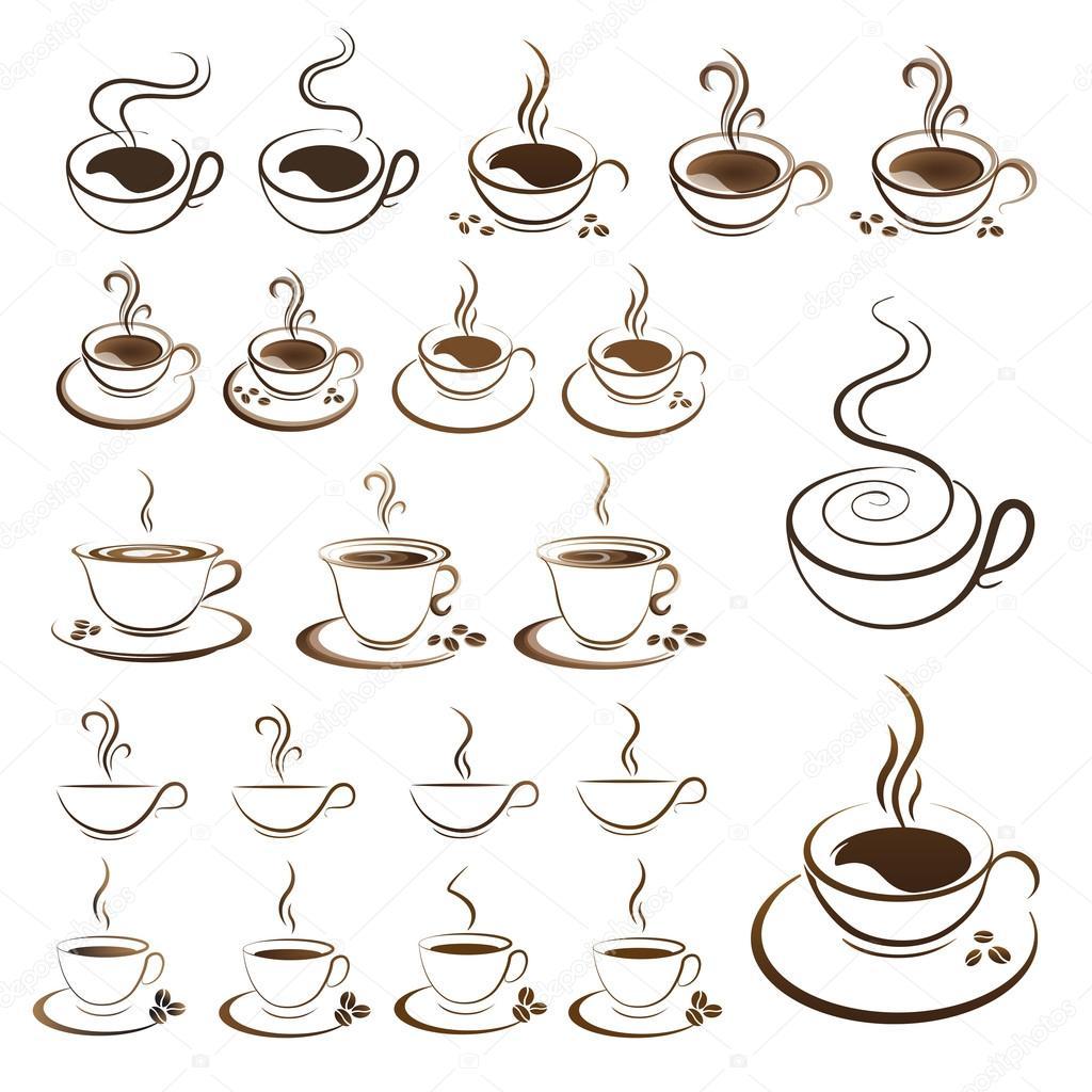 クリップアートは、ホット コーヒー カップのベクトルを設定 — ストックベクター © mizar_219842 ...