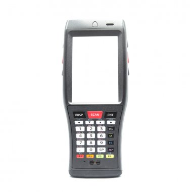 Bluetooth barcode scanner isolated on a white background for Sup