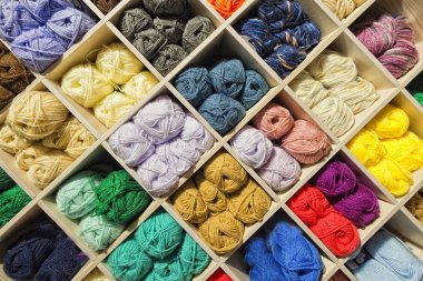 Different colors wool balls