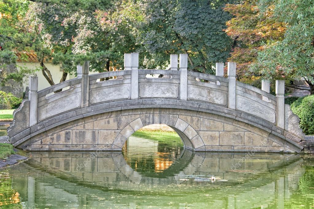 chinesischer Garten Brücke-Detailansicht — Stockfoto © izanbar #79011152