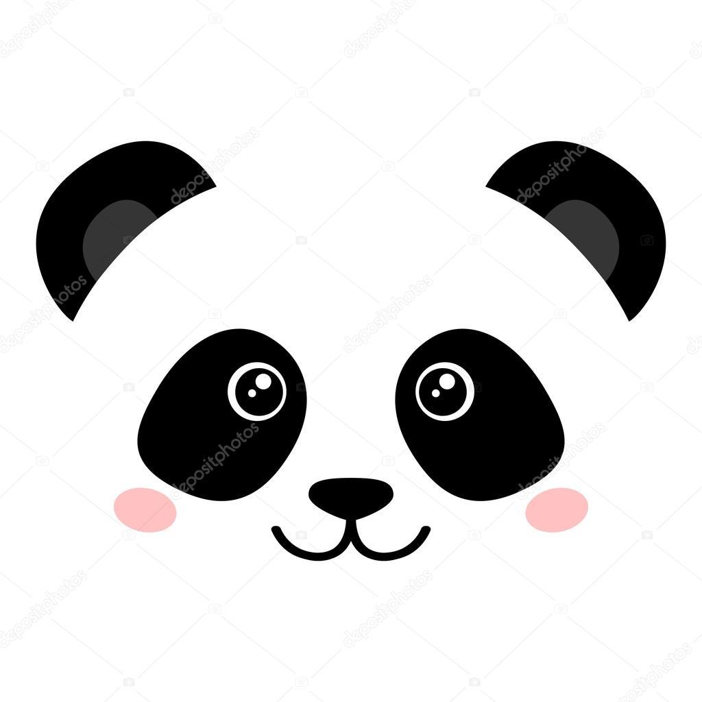 Cute panda face — Stock Vector © El4anes #102911010